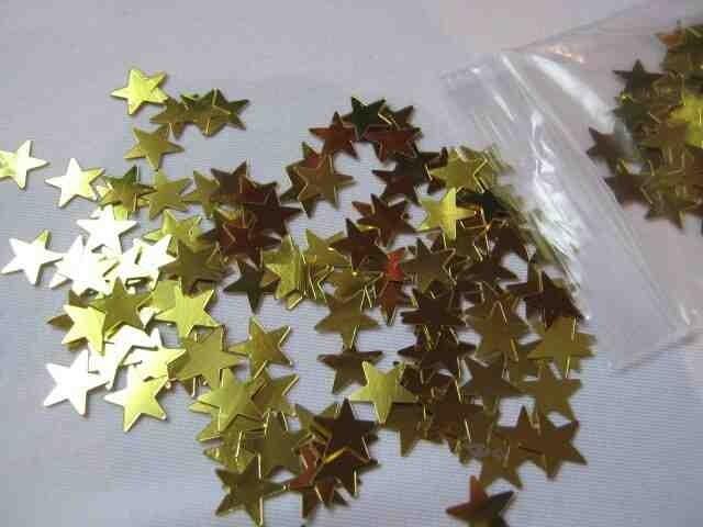 Декоративное украшение звездочки вес 5 гр, цвет золото