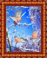 Набор для вышивания бисером КАРОЛИНКА арт. КБЖН-4013(ч) Морозное утро 19х25 см