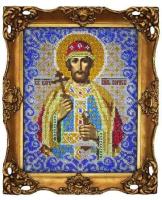 Набор для вышивания бисером ВЫШИВАЕМ БИСЕРОМ арт.L36 Святой Борис 18х23 см