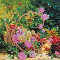 Схема на холсте АБРИС АРТ арт. AC-201 Садовые розы 30х30 см