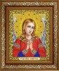 Рисунок на ткани СЛАВЯНОЧКА арт. ИС-4031 Святая Ангел Хранитель в золоте 20х25 см