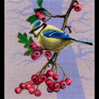 Набор для вышивания мулине НИТЕКС арт.А-0024 Синица 23х26 см