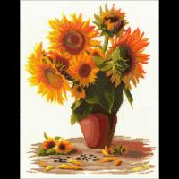 Набор для вышивания мулине НИТЕКС арт.0197 Солнечный букет 36х48 см