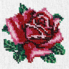 Набор для вышивания бисером LOUISE арт. L426 Нежная роза 11х11 см