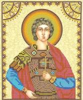 Схема для вышивки иконы бисером на холсте АБРИС АРТ арт. ACK-053 Святой Георгий 17х23 см