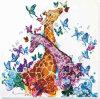 Набор для вышивания бисером АБРИС АРТ арт. AB-641 Пятнистые жирафики 30х30 см