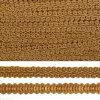 Тесьма TBY Шанель плетеная шир.8мм 0384-0016 цв.F296 (60) коричневый уп.18,28м