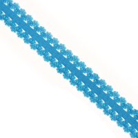 Резинка TBY бельевая (ажурная) 20мм арт.RB04162S цв.S162 ярк.голубой уп.100м