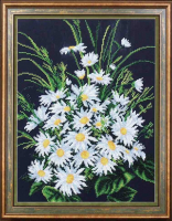 Набор для вышивания бисером МАГИЯ КАНВЫ арт.Б257 Скромные ромашки 27х35 см
